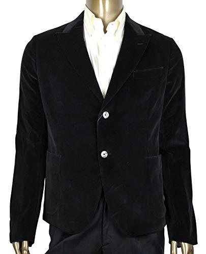 Gucci Men's Tulfan Velvet Black Cotton Formal 2 Buttons Jacket