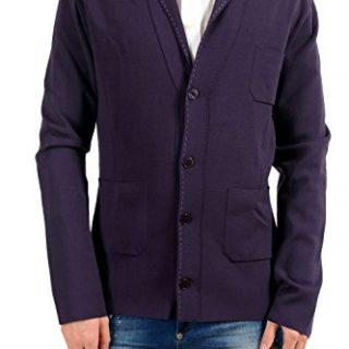 Versace Collection Men's Knitted Purple Blazer Sport Coat