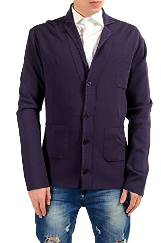 Versace Collection Men's Knitted Purple Blazer Sport Coat