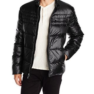 Marc New York by Andrew Marc Men's Emerson Asymmetrical Down Moto Jacket