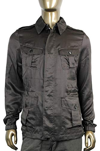Gucci Windbreak Blouse Brown Silk Jacket (G 46 / US 36)