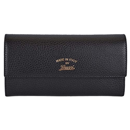 Gucci Women's Textured Leather Trademark Logo Swing Wallet