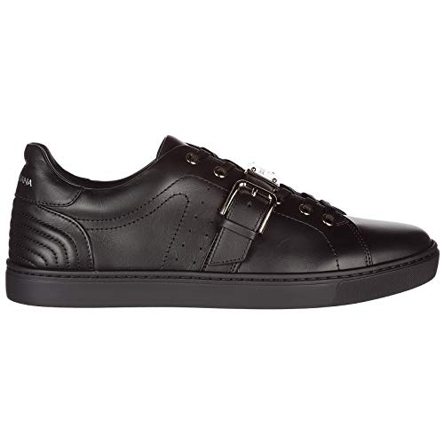 Dolce & Gabbana Men's Shoes Leather Trainers Sneakers Black US