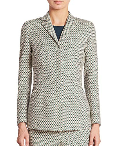 Akris Womens Punto Helia Graphic Jacquard Jacket, 10