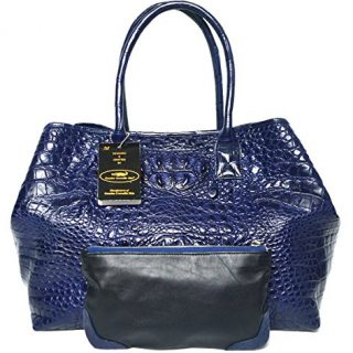 Authentic M Crocodile Skin Womens Bag Tote Hobo Extra Large