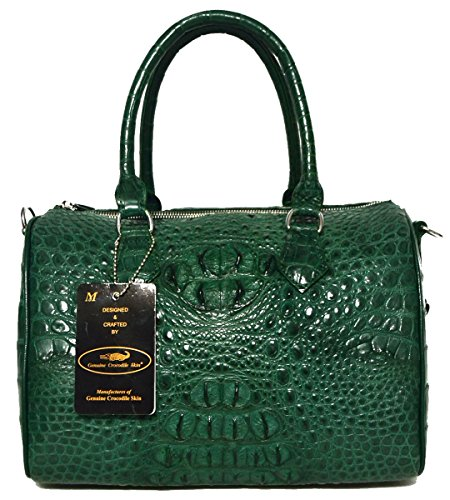 Authentic M Crocodile Skin Womens Shiny Leather Clutch Bag