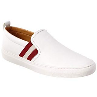 BALLY Herald Leather Sneaker, 10 Us, White