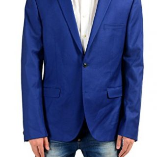 Versace Men's 100% Wool Blue Two Button Blazer Sport Coat