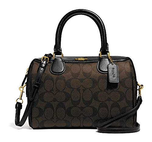 Coach Signature Mini Bennet Satchel Brown/Black