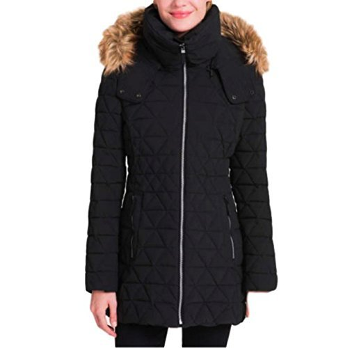 Andrew Marc Ladies Quilted Jacket with Stretch (Black, Large)