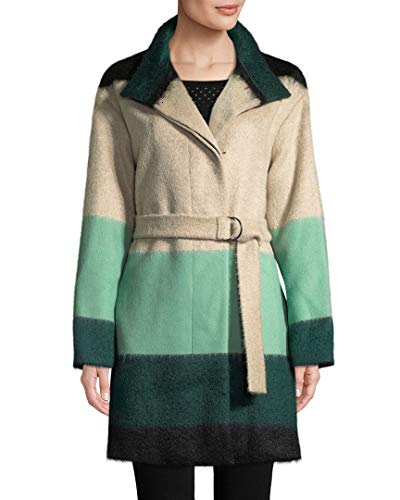 Akris Womens Punto Colorblocked Wool-Blend Coat, 8
