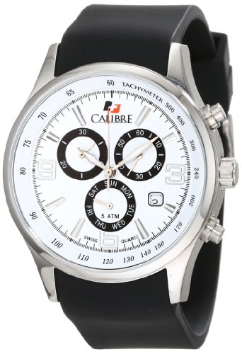 Calibre Men's Mauler Stainless Steel Chronograph Tachymeter Day Date Watch