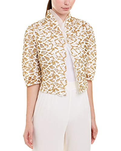 Akris Womens Silk Jacket, 4, White