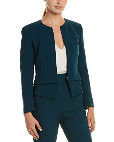 Akris Womens Wool Jacket, 4, Blue