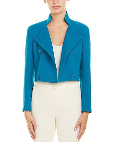 Akris Womens Wool Jacket, 10, Blue