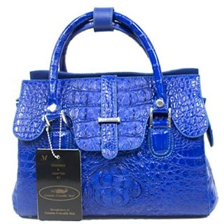 Authentic M Crocodile Skin Womens Hornback Bag Purse