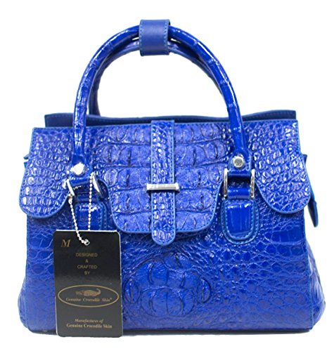 Authentic M Crocodile Skin Womens Hornback Bag Purse