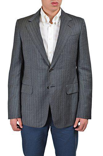 Gucci Men's Multi-Color Striped Wool Two Button Sport Coat Blazer