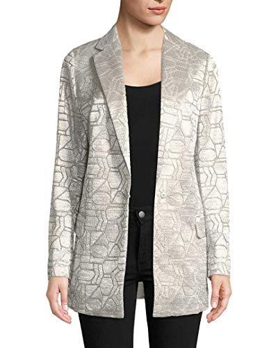Akris Womens Cherry Metallic Longline Jacket, 8