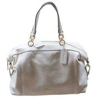 Coach Pebble Leather Lenox Satchel Handbag Shoulder Bag