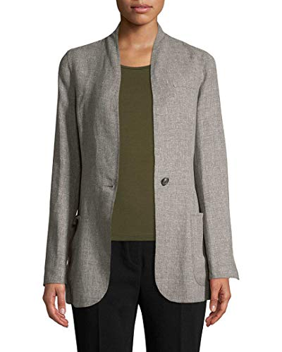 Akris Womens Cannes Solid Coat, 4 Grey