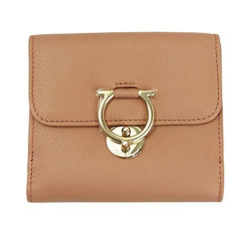 Salvatore Ferragamo Gancini Pink Leather Bifold Wallet New Blush