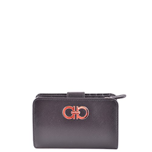Salvatore Ferragamo Double Gancio French Wallet - Black