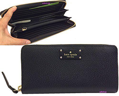 Kate Spade New York Wellesley Neda Zip-Around Wallet (Black)