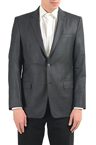 Versace Collection Men's Wool Gray Two Button Blazer