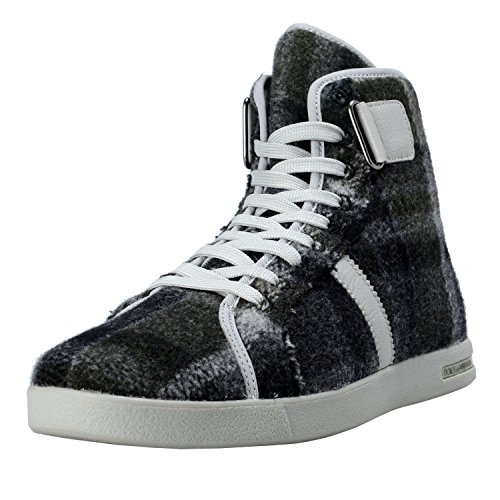 Dolce & Gabbana Men's Canvas Leather Hi Top Sneakers Shoes