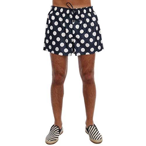 Dolce & Gabbana Blue Polka Dot Beachwear Shorts