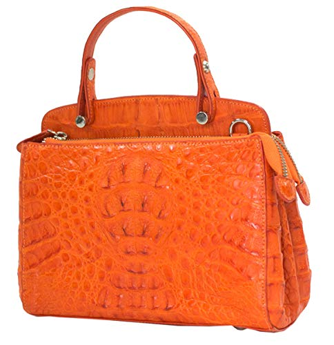 Authentic M Crocodile Skin Womens Hornback Clutch Shoulder Bag