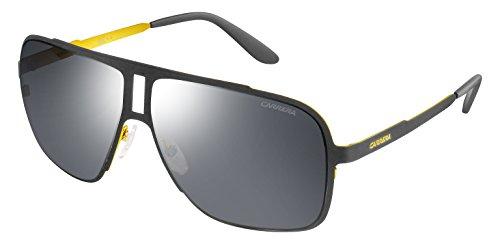 Carrera Men's Rectangular Sunglasses, Matte Grey/Black Mirror