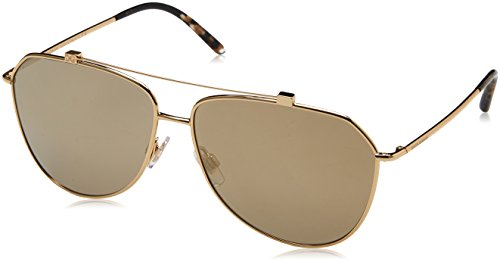 Dolce & Gabbana Unisex Gold/Light Brown Mirror Gold One Size
