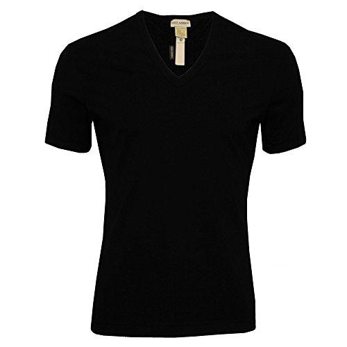 Dolce & Gabbana Men's Tailoring V-Neck T-Shirt Black 5