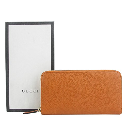 Gucci Zip Around Dark Orange Leather Long/Continental Wallet
