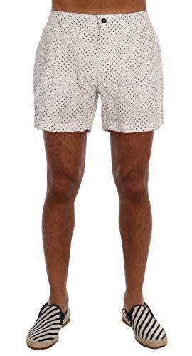 Dolce & Gabbana White Polka Dot Beachwear Shorts