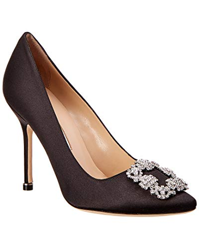 Manolo Blahnik Hangisi Satin Pump, 35.5 Black