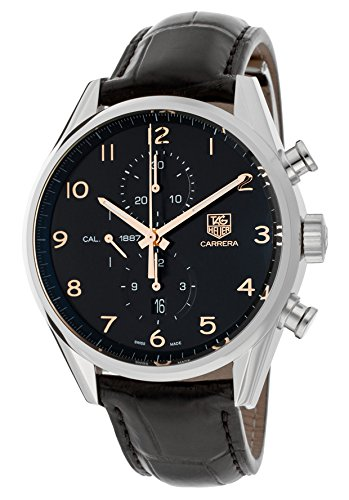 Tag Heuer Carrera Calibre Chronograph Automatic Black Dial Mens Watch