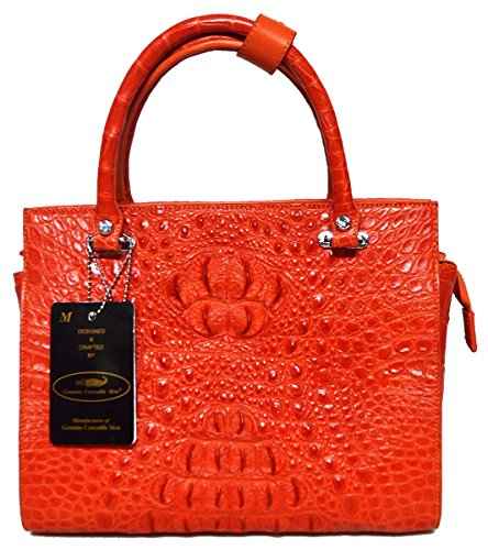 Authentic M Crocodile Skin Womens Hornback Leather Tote