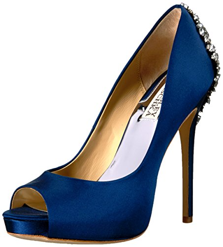 Badgley Mischka Women's Kiara Platform Pump, Navy, 7.5 M US