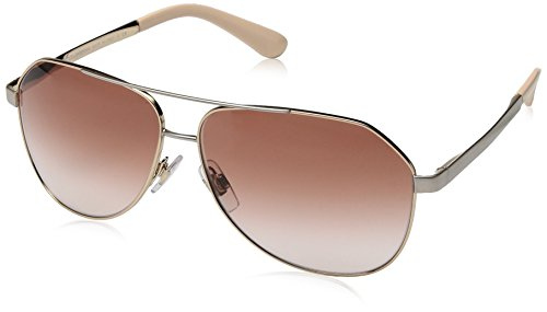 Dolce & Gabbana Women's Sicilian Taste Aviator Sunglasses, Pink Gold, 61 mm
