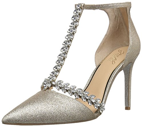 Badgley Mischka Jewel Women's Meena Pump, Gold Glitte