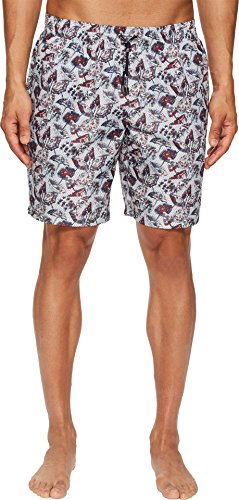 Dolce & Gabbana Men's Mid Length Wagasa Boxer w/Bag White Wagasa Print 5