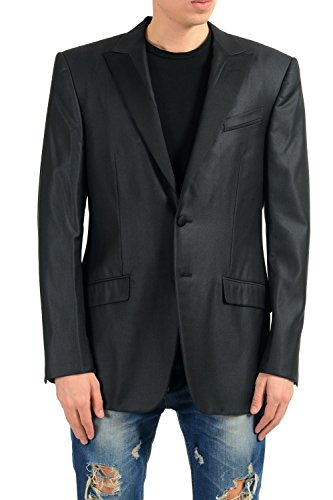 Versace Gianni Men's 100% Wool Black Two Button Blazer Sport Coat