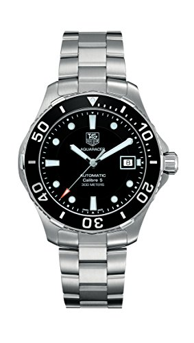 Tag Heuer Men's Aquaracer Calibre 5 Stainless Steel Black Dial Watch