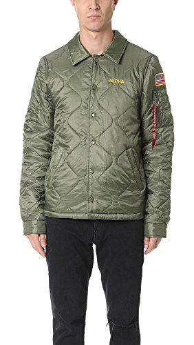 Alpha Industries Men's Quilted Storm Cruiser Jacket, Sage, Large