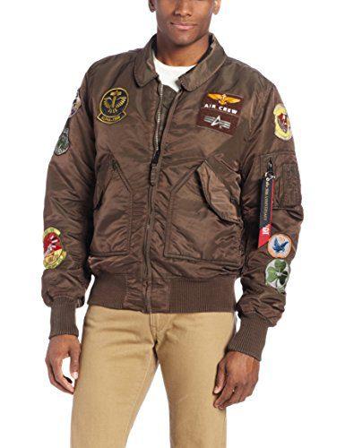 Alpha Industries Men's Pilot X Flight Jacket Sage Brown 4X Big