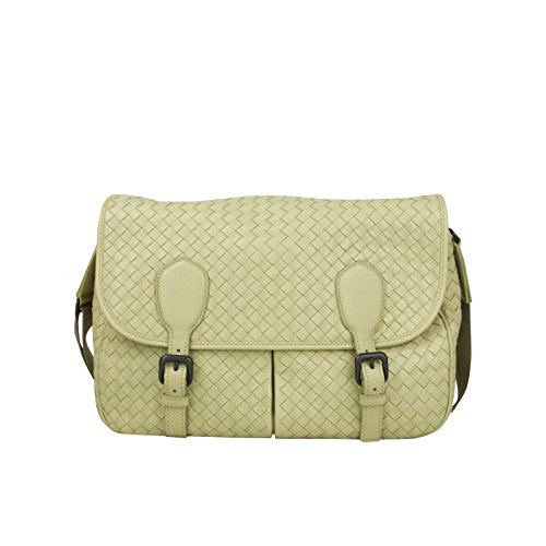Bottega Veneta Intrecciato Beige Leather Woven Shoulder Bag