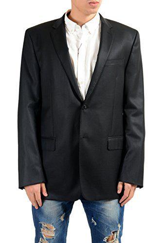Versace Collection Men's 100% Wool Black Blazer Sport Coat